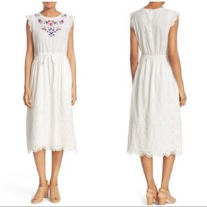 NTW Rebecca Taylor Embroidered Cotton Dress